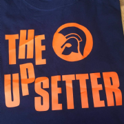 UPSETTER T-SHIRT NAVY & ORANGE